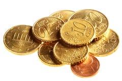Euro pièces de monnaie de cent Photo stock