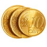 Euro pièces de monnaie de cent Photographie stock libre de droits