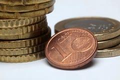 Euro pièces de monnaie de cent Photos libres de droits