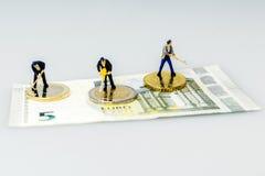 Euro pièces de monnaie, figure, billet de banque Photos libres de droits