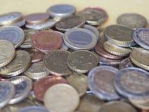 Euro pièces de monnaie, Union européenne Images libres de droits