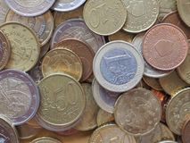 Euro pièces de monnaie, Union européenne Image stock