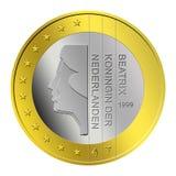 Euro pièce de monnaie hollandaise Image libre de droits