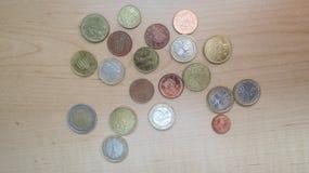 Euro pièces de monnaie d'EUR, UE d'Union européenne Photographie stock