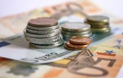Euro pieniądze Zdjęcia Royalty Free