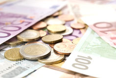 euro pieniądze Fotografia Stock