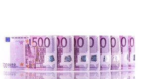 Euro pieniądze 500 banknotów tło zdjęcia stock