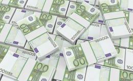 100 euro pieniądze euro gotówkowy tło Euro pieniędzy banknoty Zdjęcia Royalty Free