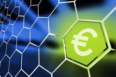 Euro pieniądze ośmioboka pojęcie royalty ilustracja