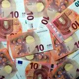 Euro pieniądze wydawać Obrazy Royalty Free
