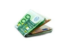 Euro pieniędzy banknoty - brogujący Obrazy Royalty Free