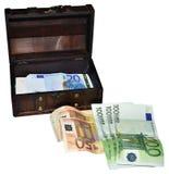 Euro pieniądze Obrazy Royalty Free