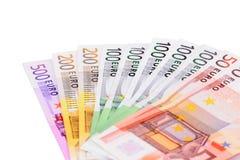 euro pieniądze Zdjęcie Stock