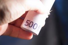 Euro pieniędzy banknoty Obrazy Stock