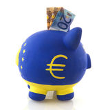 Euro piggy bank Stock Photography