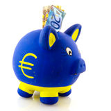 Euro piggy bank Stock Photos