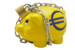 Euro piggy bank Stock Images