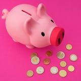 Euro (piggy) bank Stock Photo