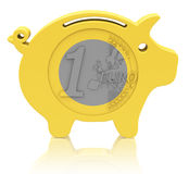 The euro piggy bank Stock Images