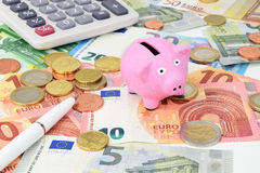 Euro Piggy Royalty Free Stock Image