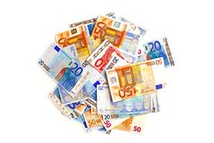 Euro pile Stock Images