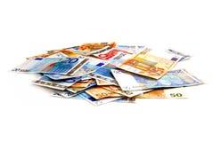 Euro pile Photos libres de droits