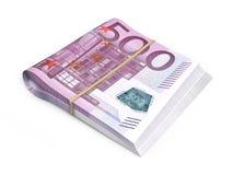 500 euro piles de billets de banque Photos stock