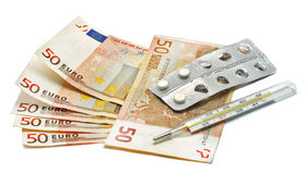 Euro and the pill Stock Photo