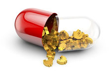 Euro pill spill Royalty Free Stock Images