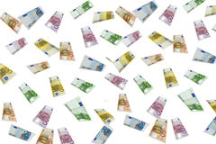 Euro pioggia Fotografia Stock Libera da Diritti