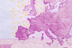Euro plan rapproché d'argent Photographie stock