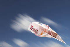 Euro plane Royalty Free Stock Images