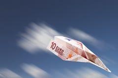 Euro plane royalty free stock images