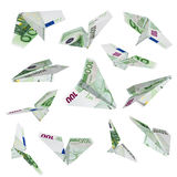 Euro plane flying Stock Photography