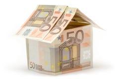 Euro Plattelandshuisje vijftig Stock Foto's