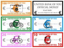 Euro play money vector Stock Photography