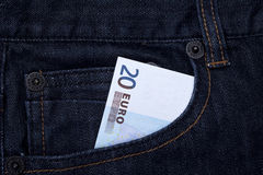 Euro in pocket Royalty Free Stock Images