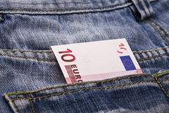 Euro in pocket Royalty Free Stock Photo