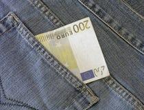 Euro In Pocket Stock Photos