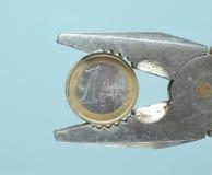 euro pojęcie waluty Zdjęcia Stock