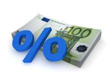 Euro- - por cento Fotos de Stock