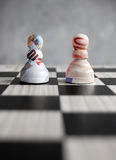 Euro pound currency chess Royalty Free Stock Photos