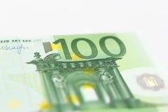 Euro prägt Anmerkungsgeld Stockbild