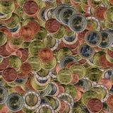 Euro prägt Collage Stockfotografie