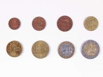 Euro prägt vollständige Auswahl Lizenzfreie Stockfotos