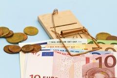 Euro presa dei soldi Immagini Stock Libere da Diritti