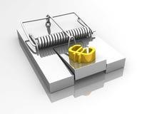 Euro presa del mouse fotografie stock libere da diritti