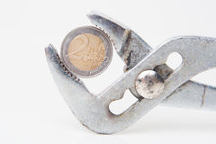 Euro pressure Stock Images