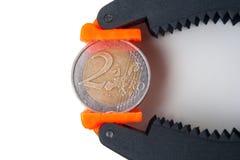 Euro pressure Stock Photo
