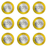 Euro Price Discount Stock Image